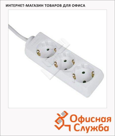 Удлинитель электрический Hama 3 розетки, 1.4м, белый, H-30528