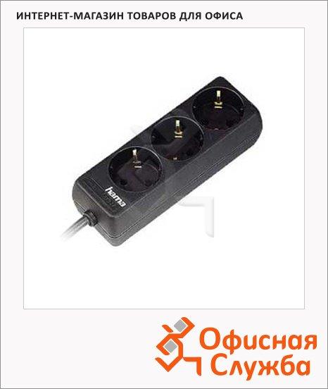 фото: Удлинитель электрический 3 розетки черный