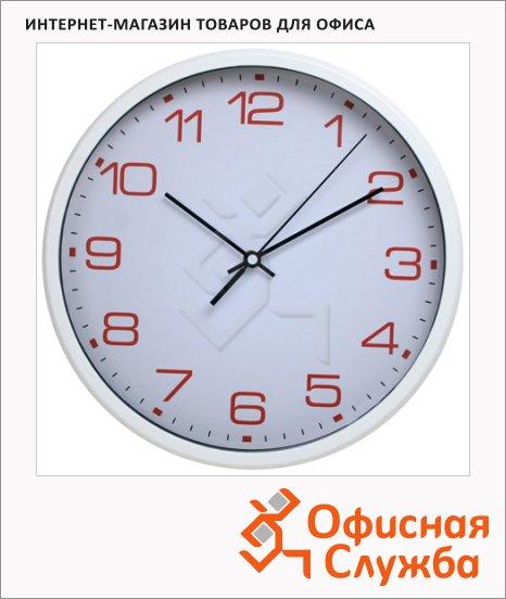 фото: Часы настенные Бюрократ белые d=30, круглые, R07P