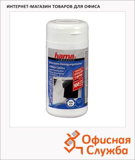 Салфетки чистящие для мониторов Hama 100 шт/уп, в тубе, H-42212