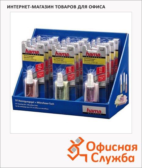 Набор для чистки экранов Hama гель 15мл+салфетка, H-39885