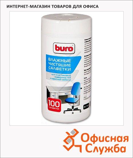 фото: Салфетки чистящие универсальные Buro BU-Tsurl 100 шт/уп в тубе, 817442