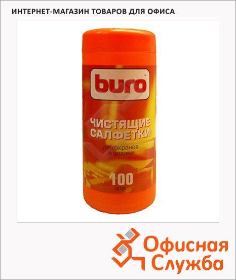 Салфетки чистящие для мониторов Buro BU-Tscreen 100 шт/уп, в тубе, 817439