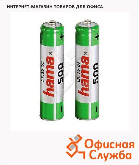 фото: Аккумулятор Hama Universal AAA/HR03 2шт/уп, 500mAh