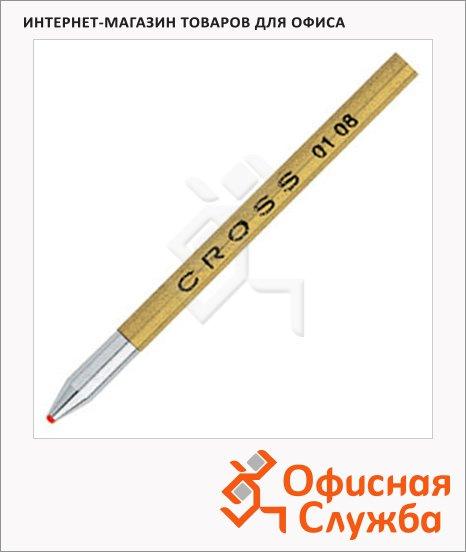 фото: Стержень для шариковой ручки Cross Mini Telescopic Pen и Matrix Fblack красный F, 3шт, 8572-3