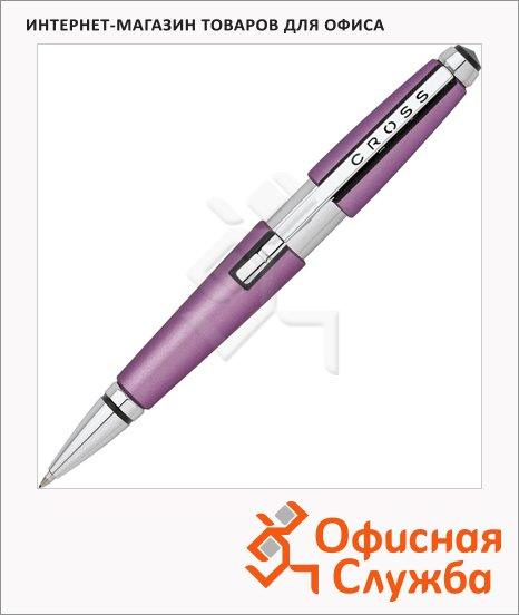 Ручка-роллер Cross Edge Tender Rose CT М, черная, корпус латунь и хром, AT0555-6