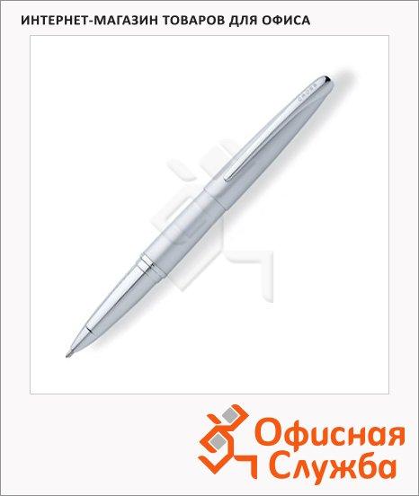 Ручка-роллер Cross ATX Matte Chrome CT, М, черная, корпус латунь и хром, 885-1