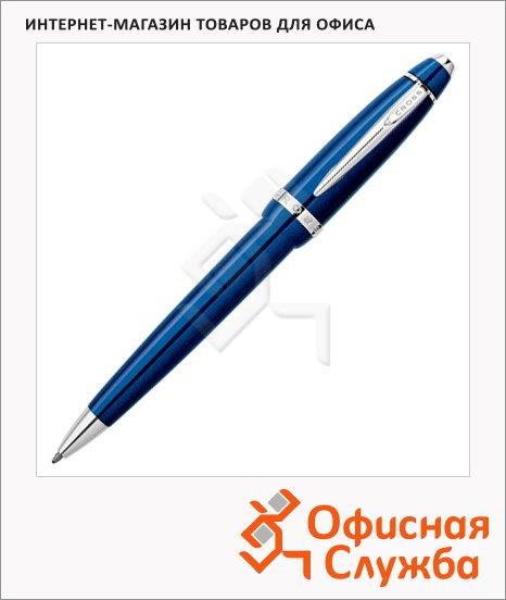 Ручка шариковая Cross Affinity Jewel Blue, М, черная, корпус синяя смола и хром, AT0422-3