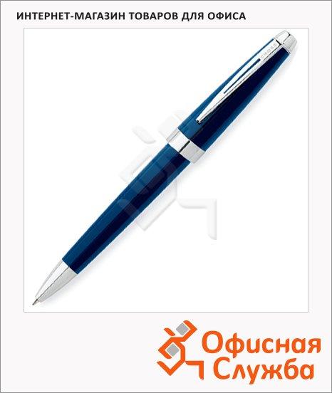 фото: Ручка шариковая Cross Aventura Blue М черная, корпус пластик и хром, синий лак, AT0152-2