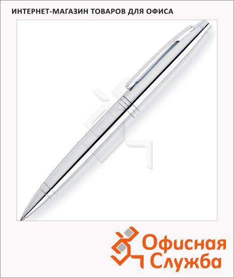 фото: Ручка шариковая Cross Chrome М черная, корпус латунь и хром, AT0112-1