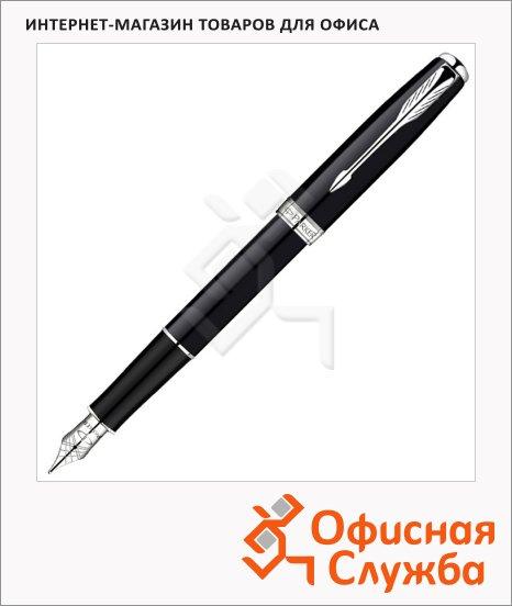 Ручка перьевая Parker Sonnet F530 F, черный/серебристый корпус