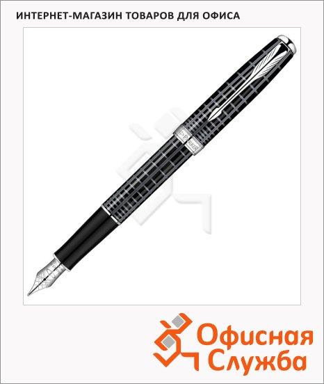 Ручка перьевая Parker Sonnet F531 F, серый/серебристый корпус