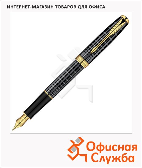 фото: Ручка перьевая Parker Sonnet F531 F серый/позолоченный корпус, S0912440