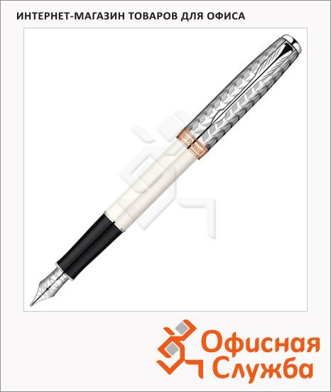 Ручка перьевая Parker Sonnet F540 F, жемчужный/металлический корпус