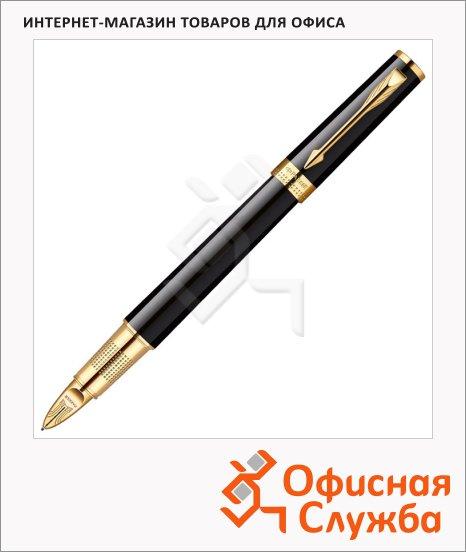 Ручка-5й пишущий узел Parker Ingenuity L F500 F, черная, черный/золотой корпус