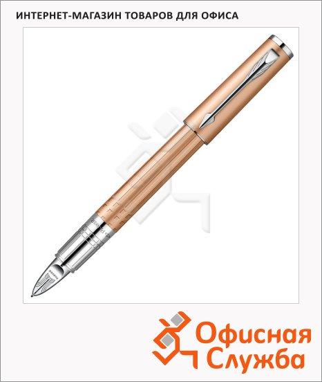 Ручка-5й пишущий узел Parker F, черная, хром/золотой корпус