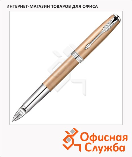 Ручка-5й пишущий узел Parker Sonnet F540 F, черная, розовое золото корпус