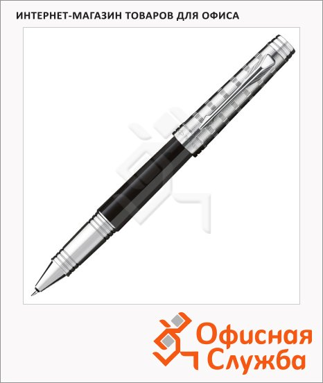 Ручка-роллер Parker Premier Custom T561 F, черная