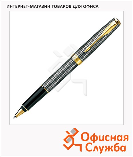 фото: Ручка-роллер Parker Sonnet Т534 M черный/позолоченный корпус, S0808160