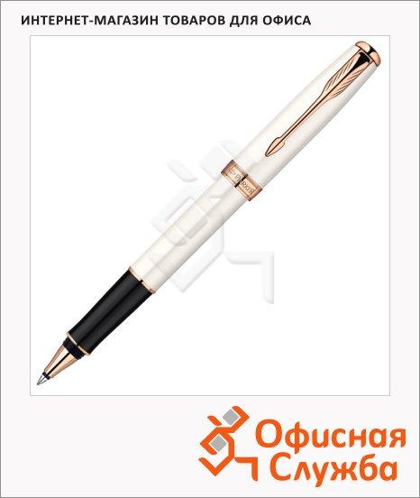 Ручка-роллер Parker Sonnet T540 F, черная, жемчужный корпус
