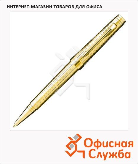 Ручка шариковая Parker Premier DeLuxe K562, черная, М, золотой корпус