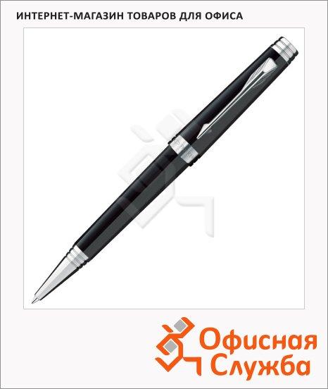 Ручка шариковая Parker Premier Lacque K560 М, черный/серебристый корпус
