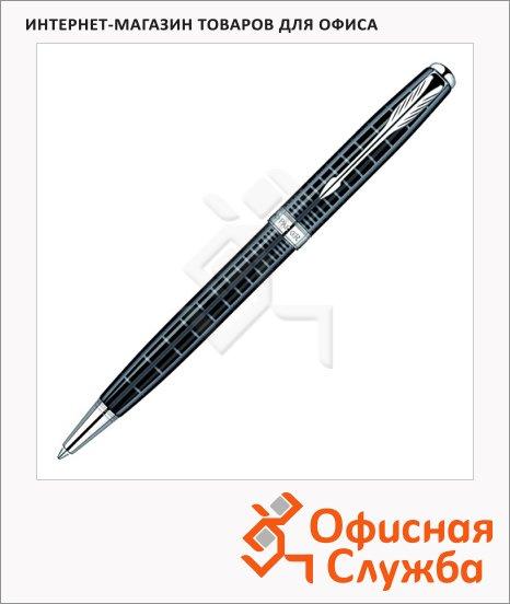 Ручка шариковая Parker Sonnet K531 М, черная, черный/серебристый корпус