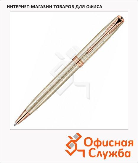 Ручка шариковая Parker Sonnet K535 М, черная, розовое золото