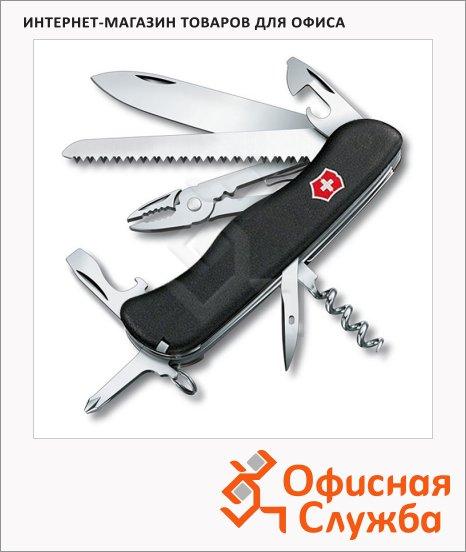 Нож солдатский 111мм Victorinox Atlas 0.9033.3, 16 функций, 4 уровня, с фиксатором, черный