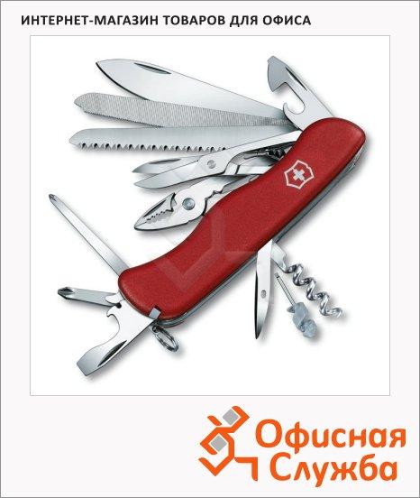 фото: Нож солдатский 111мм Victorinox WorkChamp 0.9064 21 функция, 6 уровней, с фиксатором, красный