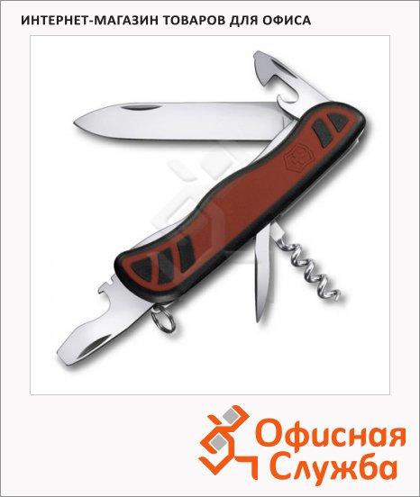 фото: Нож для спецслужб 111мм Victorinox Nomad 0.8351.C 9 функций, 2 уровня, красно-черный, с фиксатором