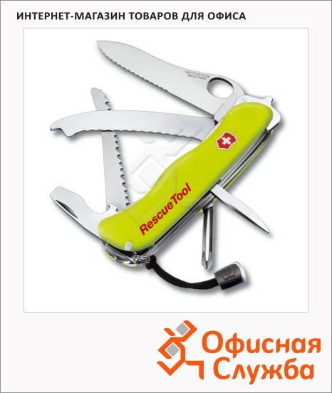 ��� ��� ��������� 111�� Victorinox RescueTool One Hand 0.8623.MWN, 15 �������, 3 ������, ������, � ����������
