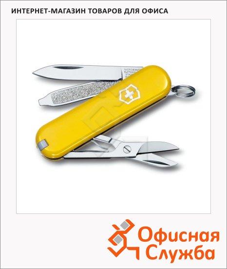 фото: Нож-брелок 58мм Victorinox Classic 0.6223.8 7 функций, 2 уровня, желтый