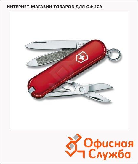 фото: Нож-брелок 58мм Victorinox Classic 0.6203 7 функций, 2 уровня, красный