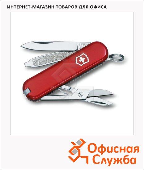 фото: Нож-брелок 58мм Victorinox Classic 0.6223-012 7 функций, 2 уровня, красный