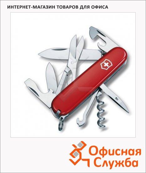 фото: Нож офицерский 91мм Victorinox Climber 1.3703 14 функций, 3 уровня, красный