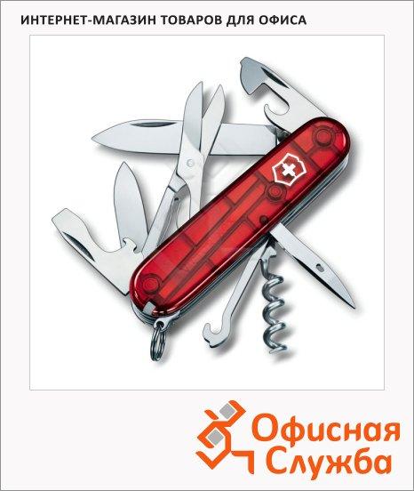 Нож офицерский 91мм Victorinox Climber 1.3703.T, 14 функций, 3 уровня, красный