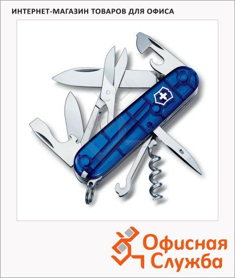 фото: Нож офицерский 91мм Victorinox Climber 1.3703.T2 14 функций, 3 уровня, синий