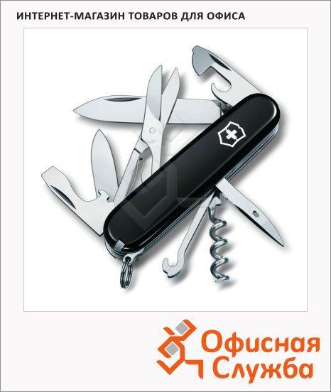 фото: Нож офицерский 91мм Victorinox Climber 1.3703.3 14 функций, 3 уровня, черный