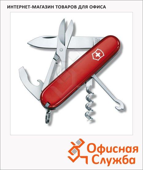 Нож офицерский 91мм Victorinox Compact 1.3405, 15 функций, 2 уровня, красный