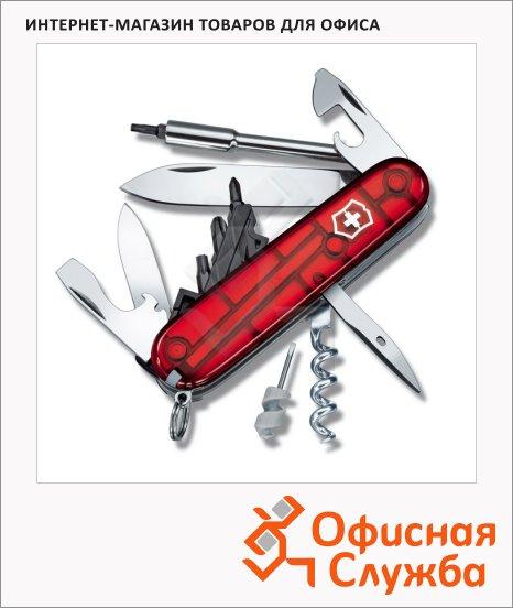 Нож офицерский 91мм Victorinox CyberTool 29 1.7605.T, 29 функций, 4 уровня, красный