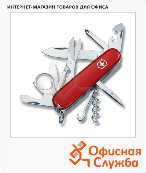 Нож офицерский 91мм Victorinox Explorer 1.6703, 16 функций, 4 уровня, красный