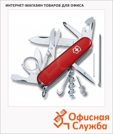 фото: Нож офицерский 91мм Victorinox Explorer 1.6705 19 функций, 4 уровня, красный