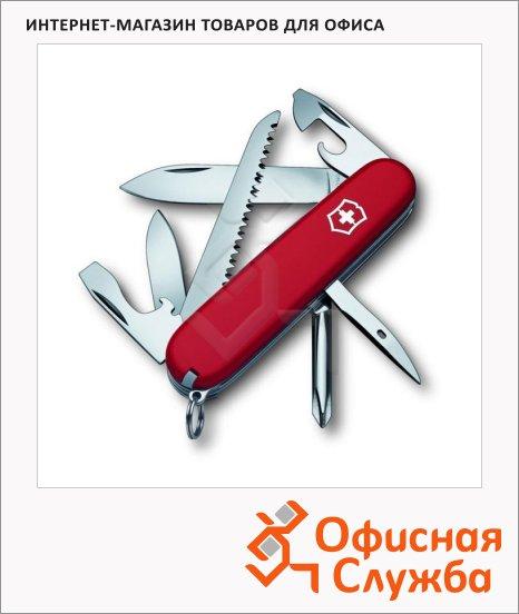 фото: Нож офицерский 91мм Victorinox Hiker 1.4613 13 функций, 3 уровня, красный