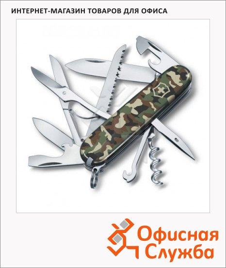 Нож офицерский 91мм Victorinox Huntsman 1.3713.94, 15 функций, 4 уровня, камуфляж