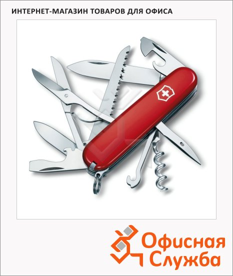 фото: Нож офицерский 91мм Victorinox Huntsman 1.3713 15 функций, 4 уровня, красный