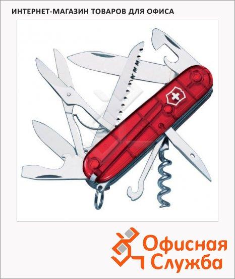 фото: Нож офицерский 91мм Victorinox Huntsman 1.3713.T 15 функций, 4 уровня, красный