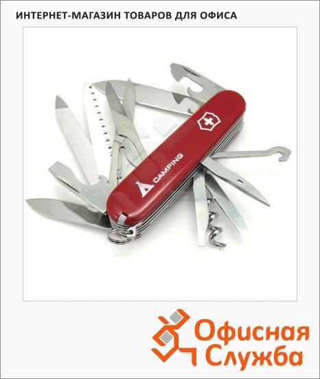 Нож офицерский 91мм Victorinox Ranger 91мм, 21 функция, красный с логотипом camping