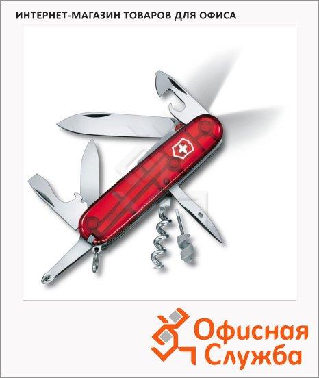 фото: Нож офицерский 91мм Spartan Lite 1.7804.T 15 функций, 3 уровня, красный