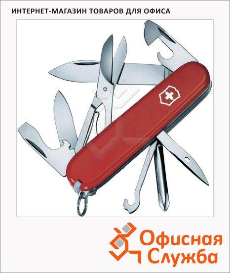 фото: Нож офицерский 91мм Victorinox Super Tinker 1.4703 14 функций, 3 уровня, красный